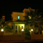 Villa Vivenda, front side by night