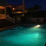 Villa Vivenda, pool by night